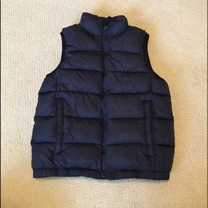 Gap Kids Puffer Vest in Navy Blue Size M